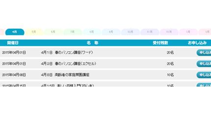 イベント管理機能イメージ